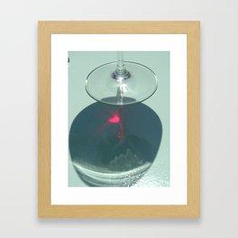 Wine glass in Hydra. Framed Art Print