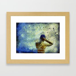 Baseball Fan Framed Art Print