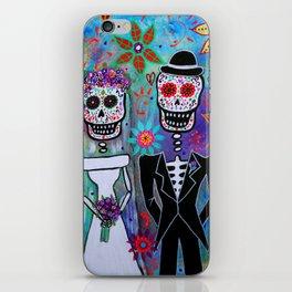 Dia de los Muertos Wedding Couple Painting iPhone Skin