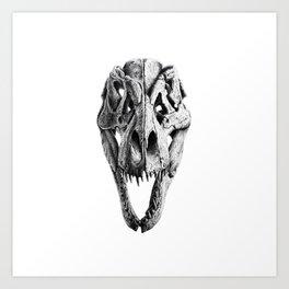 T-Rex Skull Art Print