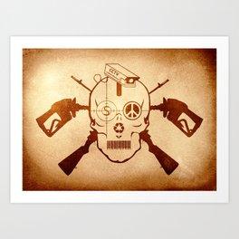 Doom Skull, Beware! Wild West Style Art Print