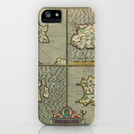 Map Of The Channel Islands 1610 iPhone Case