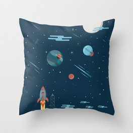SPACE vector illustration Throw Pillow