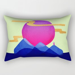 055 Owly travels the inky mountains Rectangular Pillow