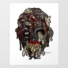 Heads of the Living Dead Zombies: Infested Zombie Art Print