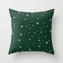 Slytherin Chapter Stars Throw Pillow