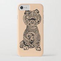 pomeranian iPhone & iPod Cases featuring Polynesian Pomeranian by Huebucket