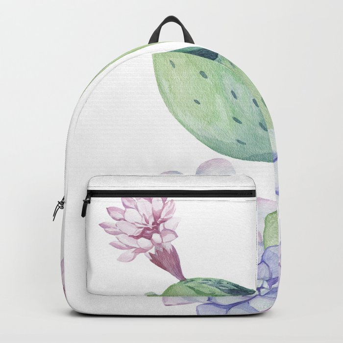 In Love Rose Cactus + Succulents Backpack
