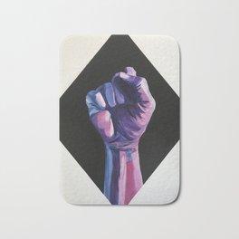 Bi Pride artwork, Bisexual pride resist fist, Bisexual artwork Bath Mat