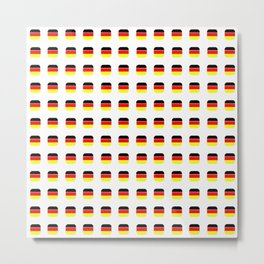 Flag of Germany -with soft square Metal Print