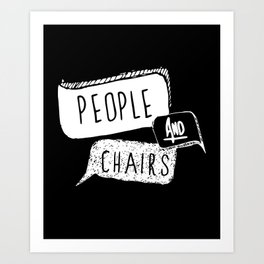 People and Chairs - Alternate Logo Art Print