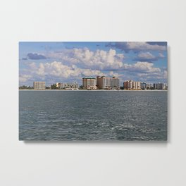Fort Myers Beach from the Gulf Metal Print