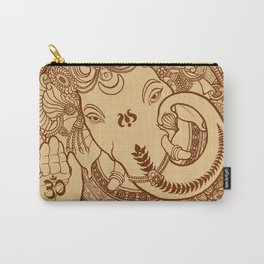 Ganesha Lineart Scroll Carry-All Pouch