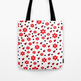 Ladybugs and Daisies Tote Bag