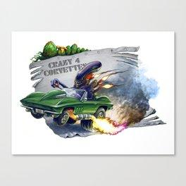 Alien's Vette Canvas Print