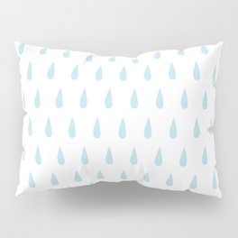 drops pattern blue Pillow Sham