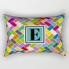 F Monogram Rectangular Pillow