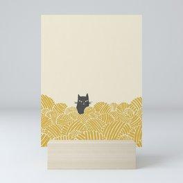 Cat and Yarn Mini Art Print