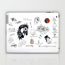 Halsey's Tattoos Laptop & iPad Skin