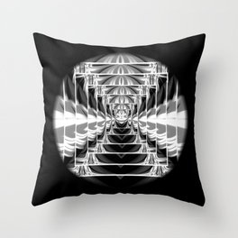Black+White Abstract.Modern. Throw Pillow