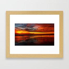 Huntington Beach Sunset 12/2/13 Framed Art Print
