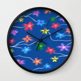 Blue garden Wall Clock