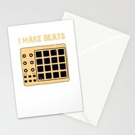 I Make Beats Beat Producer Music Maker Drum Machine Deejay Dj Stationery Cards
