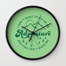 I Don't Want To Go  (Evergreen) Wall Clock