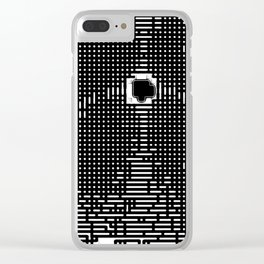 parallel binding Clear iPhone Case