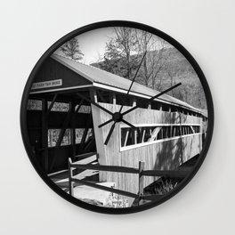 East and West Paden Twin Bridge Wall Clock