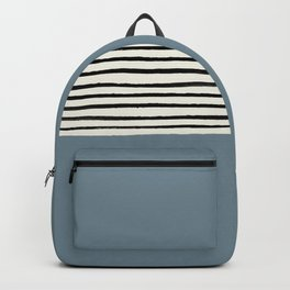 Dusty Blue x Stripes Backpack