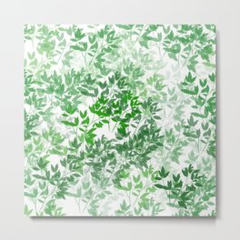 Inspirational Leafy Pattern Metal Print