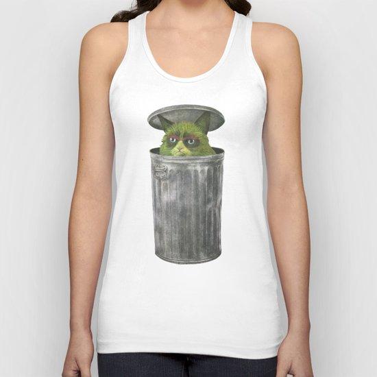 Grouchy Cat  Unisex Tank Top