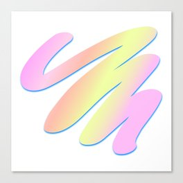 Pastel Scribble Canvas Print