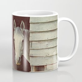 Peekaboo Mare // Horse Coffee Mug