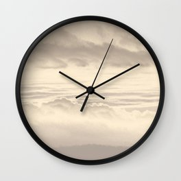 Abstract Pink Clouds Wall Clock