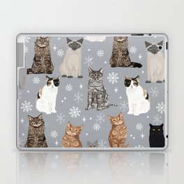 Cat breeds snowflakes winter cuddles with kittens cat lover essential cat gifts Laptop & iPad Skin