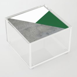 Concrete Festive Green White Acrylic Box