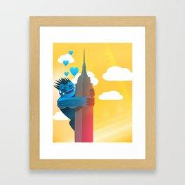 Monster Love Building Framed Art Print