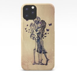 Always Kiss Goodnight Skeletons iPhone Case