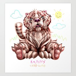 Kenny the Tiger Art Print