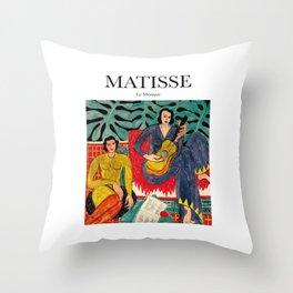Matisse - La Musique Throw Pillow