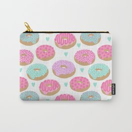 Donut hearts pastel colors love happy hipster foodie funny valentines day Carry-All Pouch