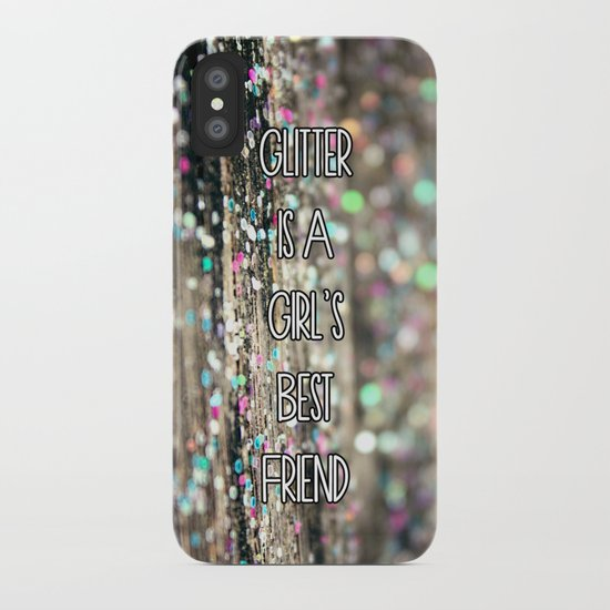 Glitter is a Girl's Best Friend iPhone Case