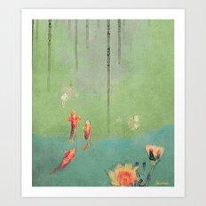 Koi Dreams Art Print