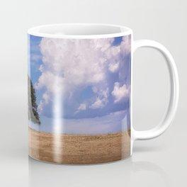 Symmetry a single oak among the clouds Coffee Mug
