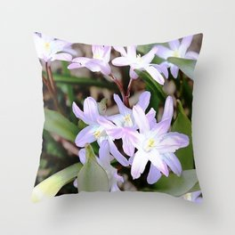 Delicate Beauty - Glory In The Snow - Pink Throw Pillow