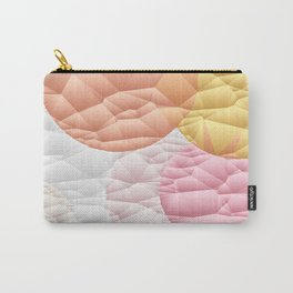 Orange Sherbet Circle Quilt Pattern Carry-All Pouch