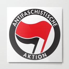 Antifa T-Shirt Antifaschistische Aktion Metal Print