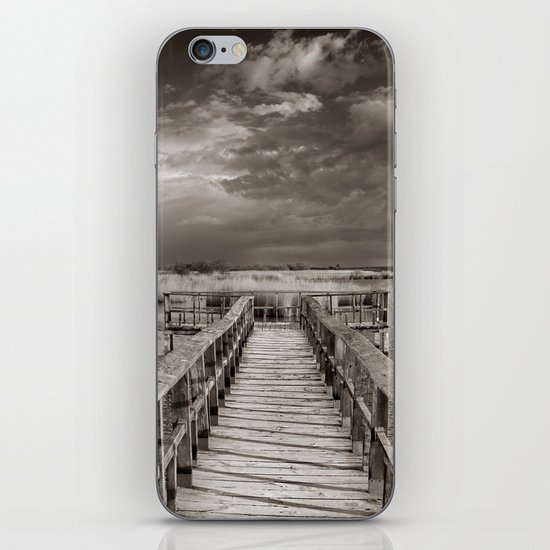Stormy weather at the lake. Vintage iPhone & iPod Skin